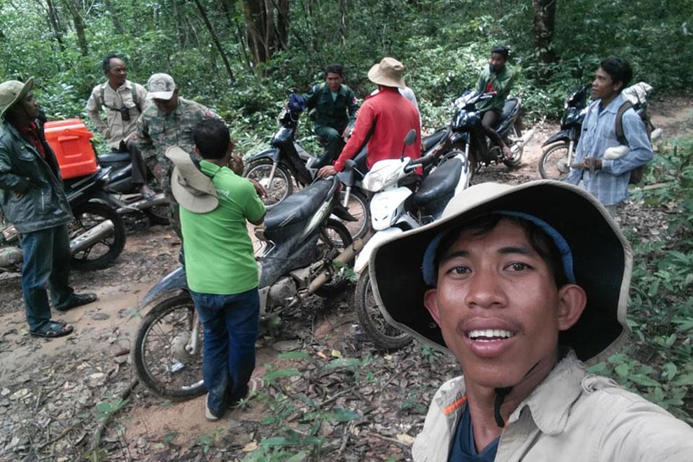 Heng Sros rides his motorbike across Mondulkiri province.