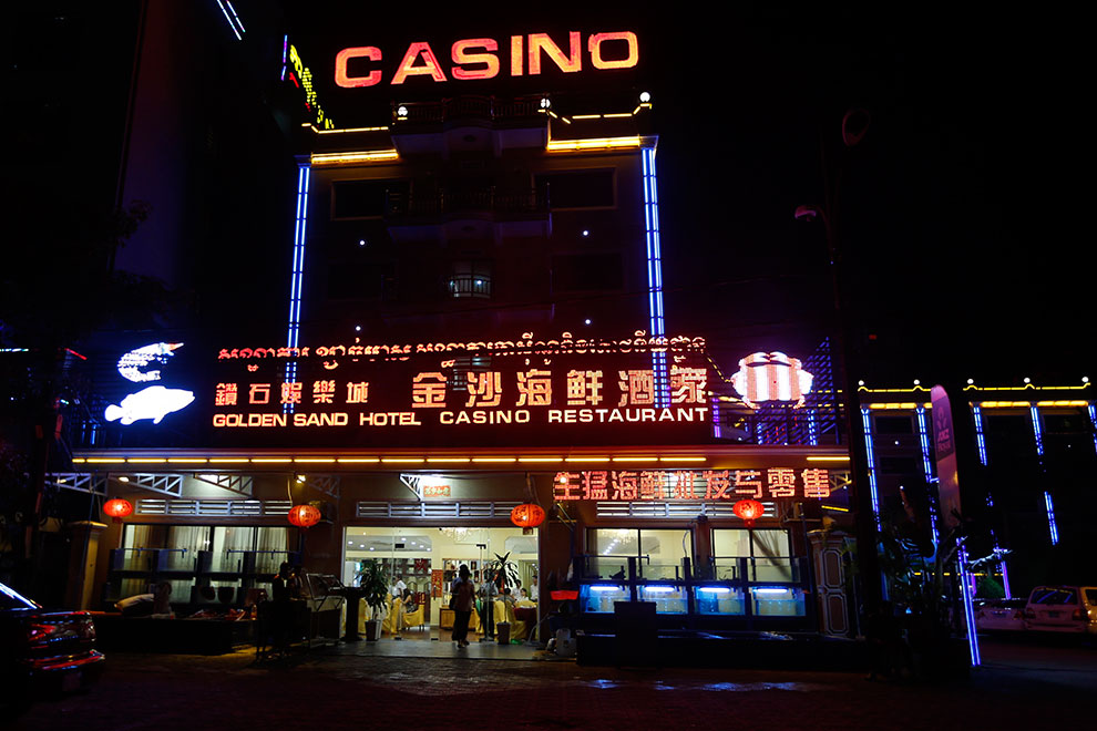 A Restaurant, Hotel and Casino was seen at the Preah Sihanoukville province