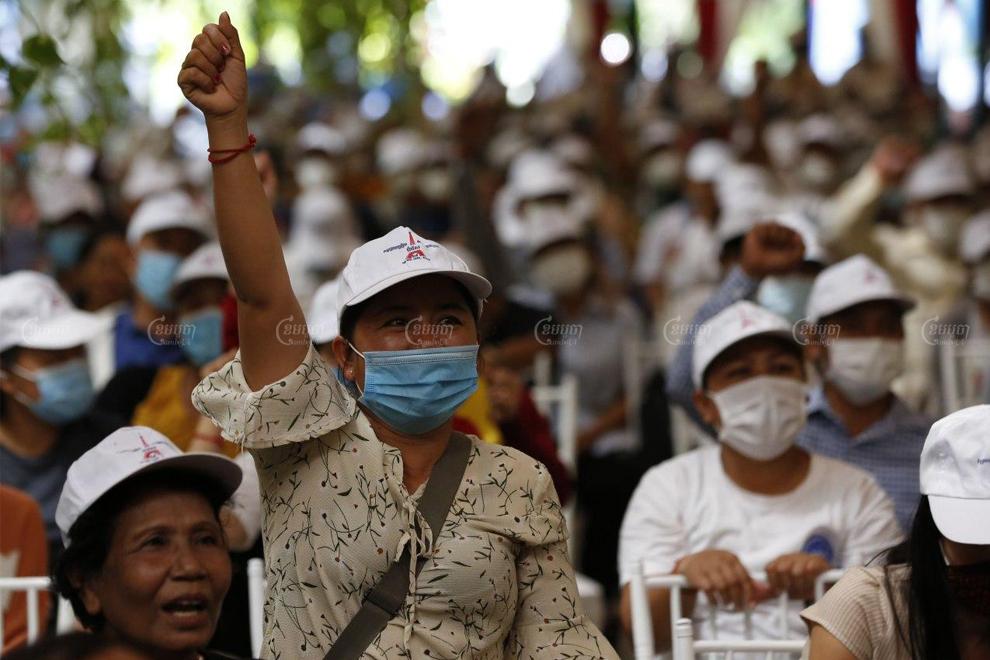 Members of civil society organizations mark Paris Peace Agreements Day in Phnom Penh on October 23. Panha Chhorpoan