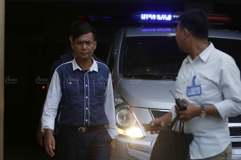 Ros Sokhet leaves Phnom Penh Municipal Court after he was questioned on June 26 regarding Facebook posts he had made earlier of June that were critical of Prime Minister Hun Sen. Panha Chhorpoan