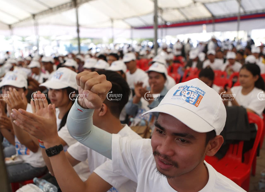 Participants attend a Human Rights Day celebration in December 2019, with this year's events to mark the day postponed on account of a growing COVID-19 cluster in Phnom Penh. Panha Chhorpoan
