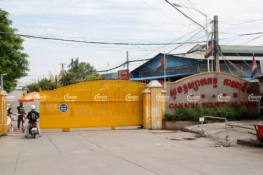 All garment factories in Phnom Penh and Takhmao were ordered shut during the lockdown, suspending the jobs of approximately 500,000 workers, April 23, 2021. CamboJA/ Panha Chhorpoan
