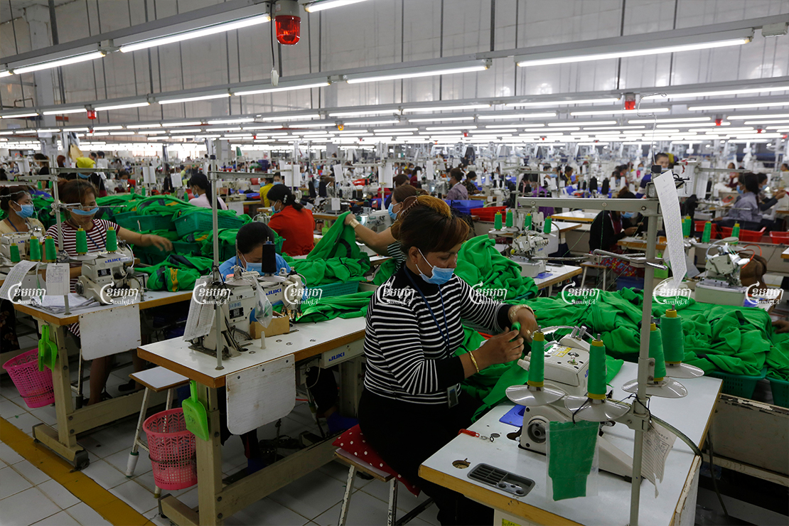 Garment factories like this supplier in Kandal provided a central pillar for Cambodia's economic growth before the pandemic, December 2018. CamboJA/ Pring Samrang