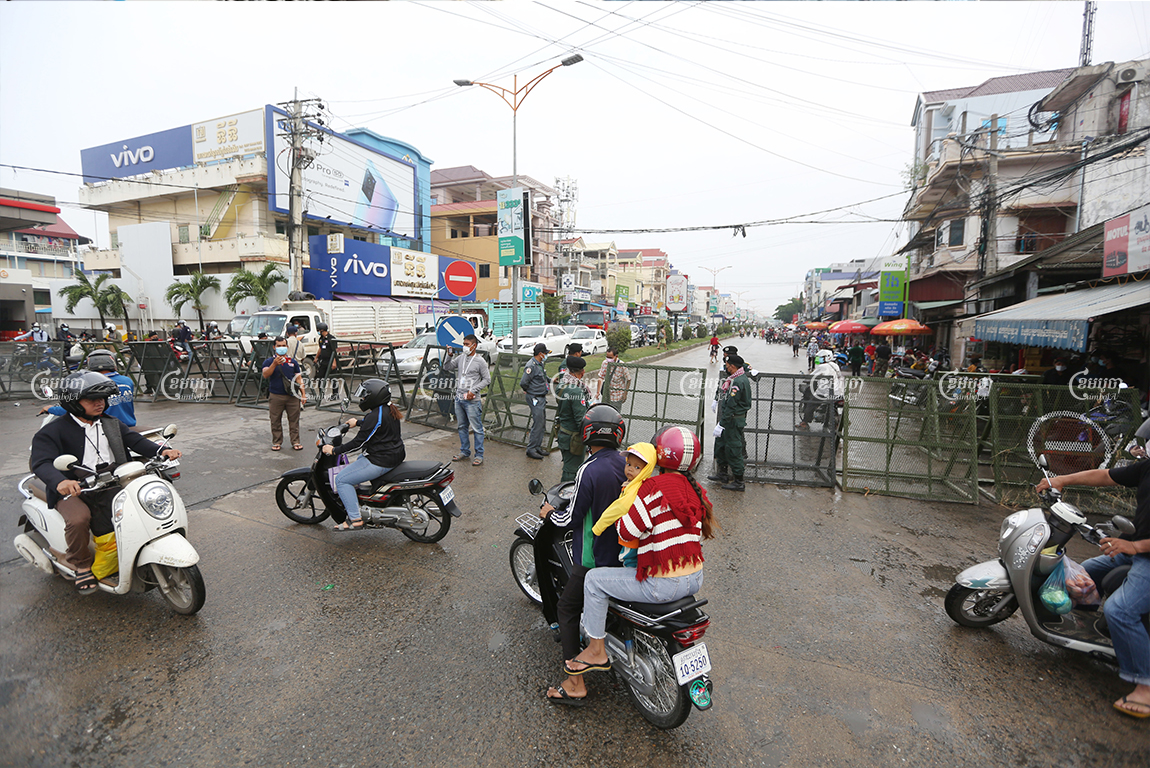 The capital's southwest commune of Stung Meanchey II is one of many now under official lockdown in Phnom Penh April 10, 2021. CamboJA/ Pring Samrang
