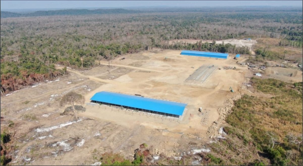 The new Think Biotech/Angkor Plywood sawmill in the immediate vicinity of Prey Lang Wildlife Sanctuary. All photographs are screenshots from the Global Initiative against Transnational Organized Crime report.