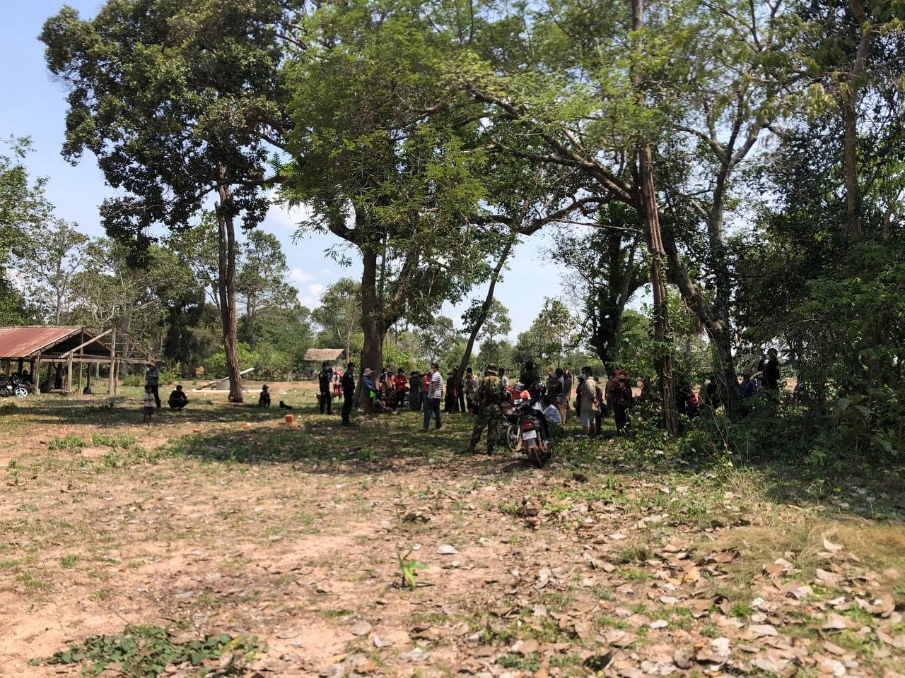 A recovered photo taken by VOD reporter Khut Sokun during a land protest on May 11. Sokun says authorities confronted him on the scene and demanded he delete his images of the protest.