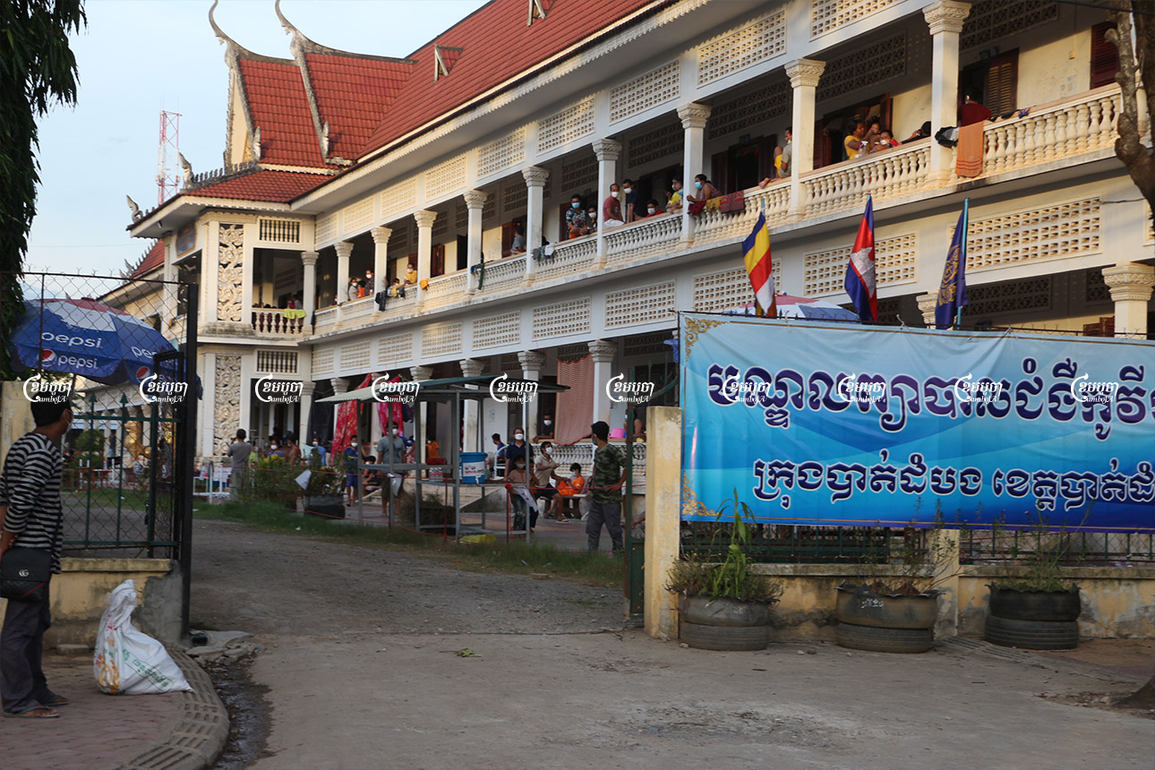 Both local villagers and migrant workers who have returned from Thailand being treated at a high school in Battambang city on July 27, 2021. CamboJA/ Panha Chhorpoan