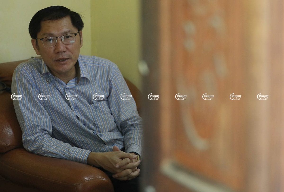 New Adhoc president, Ny Sokha, speaks during an exclusive interview with CamboJA in Phnom Penh, July 7, 2021. CamboJA/ Pring Samrang