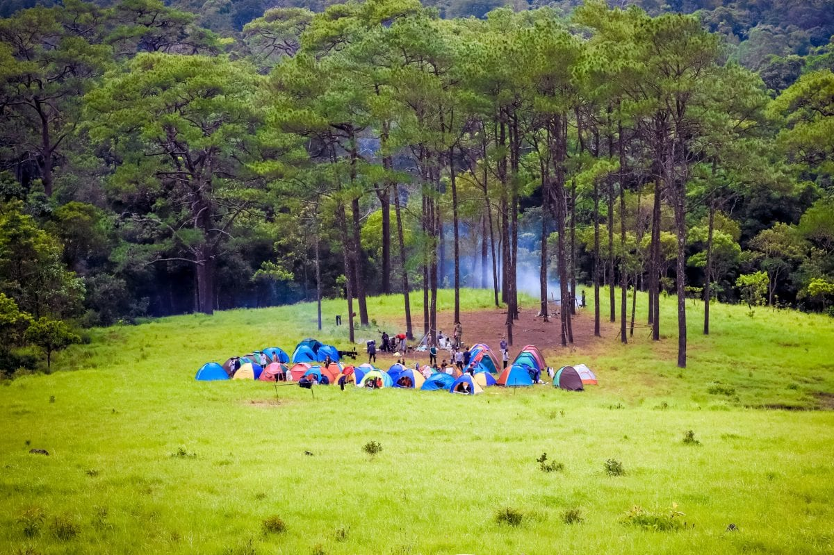 A campsite at Khnong Phsar, June 27, 2020. Luy Veasna
