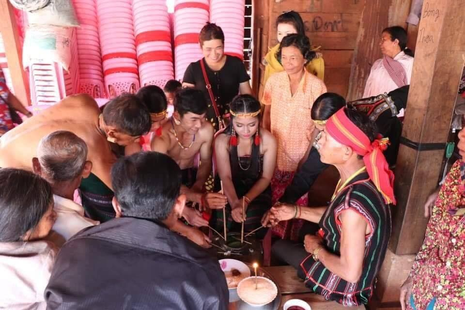 A Bunong wedding ceremony held in Mondulkiri on February 2019. Hungkry Syphon