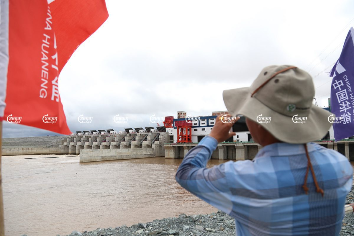 The Lower Sesan 2 dam in Stung Treng province was inaugurated in 2017. The dam's construction displaced nearly 5,000 people. CamboJA/ Panha Chhorpoan