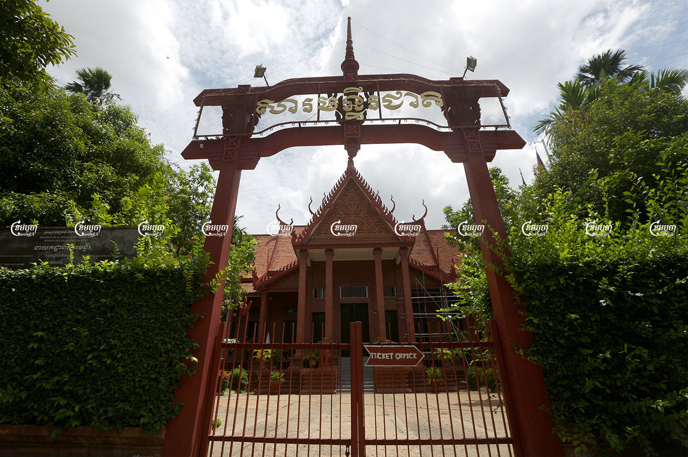The National Museum in Phnom Penh has been closed as part of widespread restrictions to combat the outbreak of COVID-19, August 12, 2021. CamboJA/ Pring Samrang