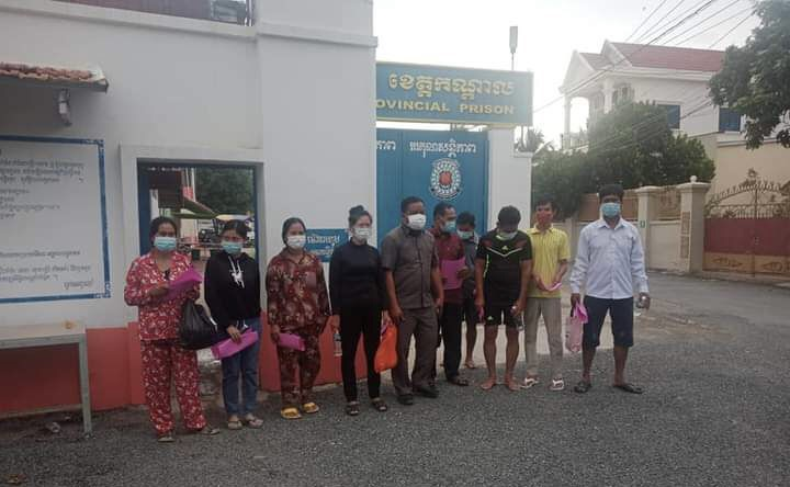 Nine villagers from Kandal province who were arrested while protesting against a new airport were released on bail on Monday evening. Photo Supplied