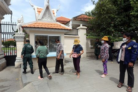 Villagers from the Lor Peang community submit a petition at Ministry of Interior to approve Boeng Pur lake as a protected site. The ministry rejected their petition and referred them to the Ministry of Environment. Photo taken on September 10, 2021. CamboJA/ Pring Samrang